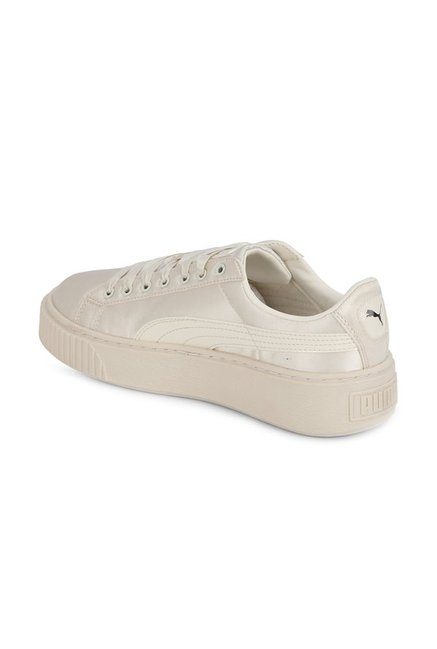 the latest 47a47 0ee69 Buy Puma Basket Tween Jr Whisper White Sneakers for Girls at ...