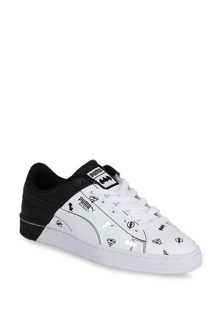 d626648414b Buy Puma Basket Jr Justice League White   Black Sneakers for Boys at Best  Price   Tata CLiQ