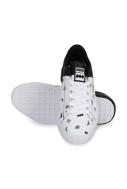 d41a5fdd346 Buy Puma Basket Jr Justice League White   Black Sneakers for Boys at ...
