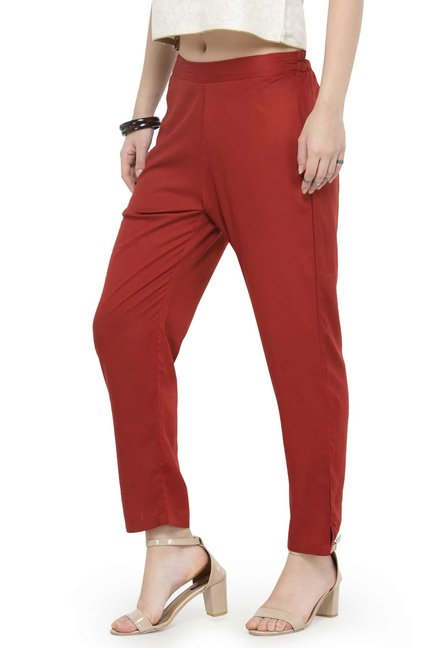 Varanga Rust Regular Fit Cigarette Pants