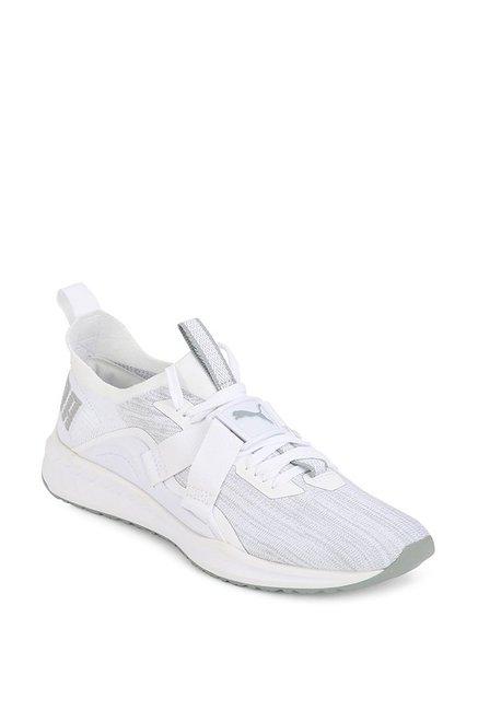 f170b2bc07dae3 Buy Puma Ignite evoKNIT Lo 2 White   Quarry Running Shoes for ...