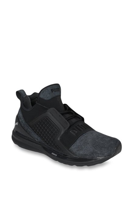 classic fit 04f54 ebc99 Buy Puma Ignite Limitless Black Running Shoes for Men at ...