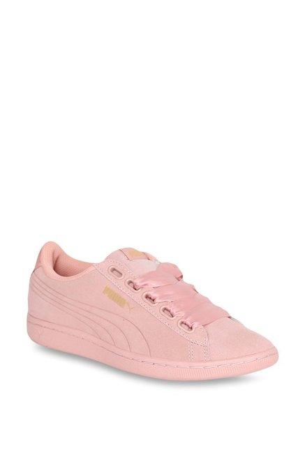 0c94efca525c71 Buy Puma Vikky Ribbon S Pearl Pink Sneakers for Women at Best Price   Tata  CLiQ