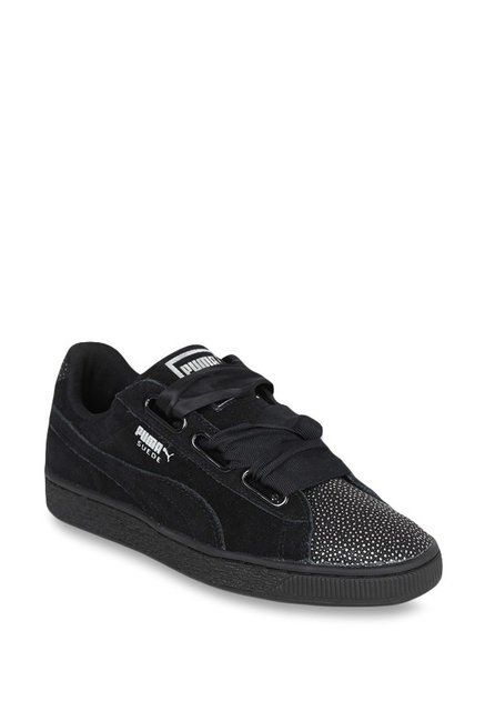 sports shoes 4c5ec 4b6eb Buy Puma Heart Bubble Black Sneakers for Women at Best Price ...