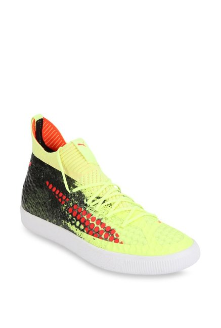 93aebcc0e3d Buy Puma Future 18.1 Netfit Clyde Fizzy Yellow Football Shoes for Men at  Best Price   Tata CLiQ