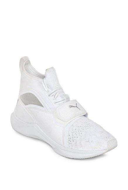 64ff78bc0ee8 Buy Puma Phenom EP White Training Shoes for Women at Best Price   Tata CLiQ