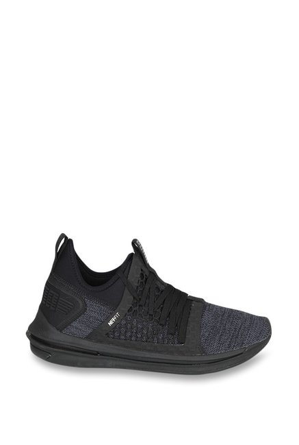 Buy Puma Ignite Limitless SR Netfit Black Training Shoes for Men at ... fface0065