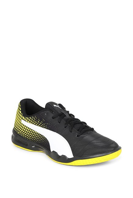 3ee8fe3d53b Buy Puma Veloz Indoor NG Black   Blazing Yellow Badminton Shoes for Men at  Best Price   Tata CLiQ