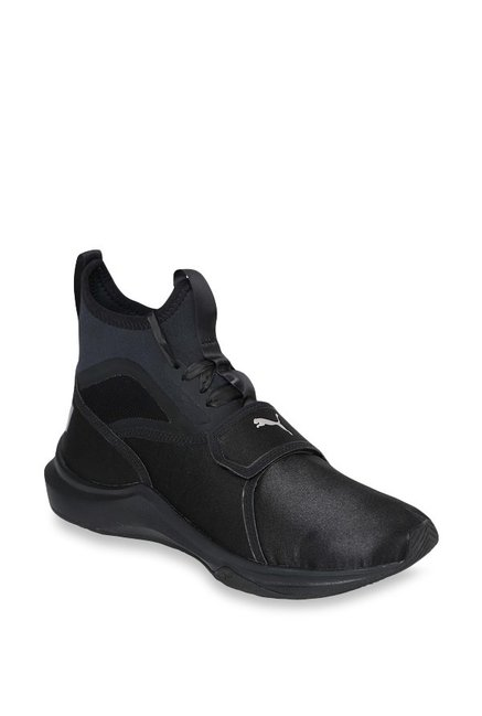 b0d5d28a9611 Buy Puma Phenom Satin EP Black Training Shoes for Women at Best Price    Tata CLiQ