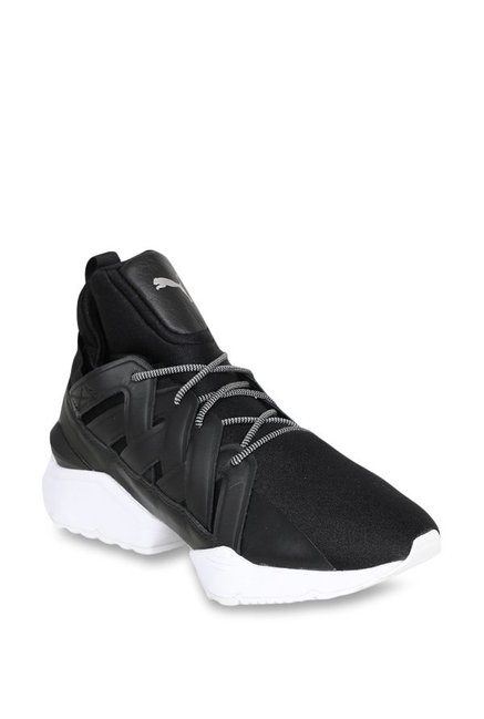 5264f66f9a7c Buy Puma Muse Echo Satin EP Black Sneakers for Women at Best ...
