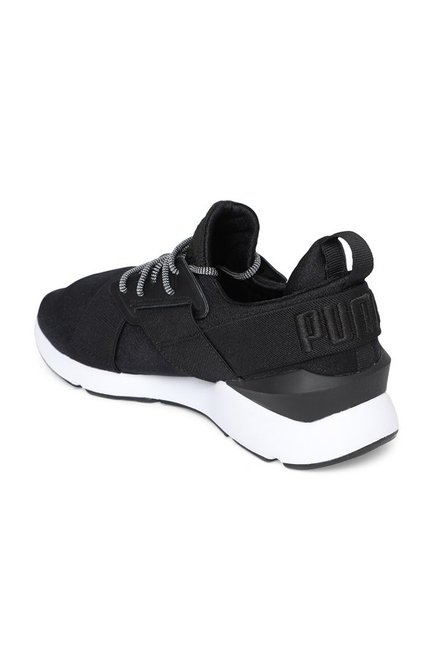 Buy Puma Muse Satin EP Black Sneakers for Women at Best