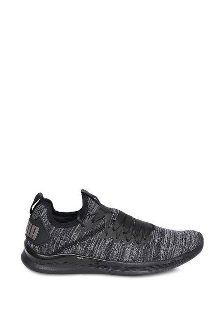 6361224673a Buy Puma Ignite Flash evoKNIT Satin EP Black Training Shoes for ...