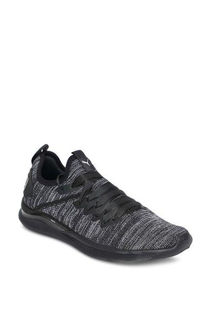 sports shoes f9416 92c9c Buy Puma Ignite Flash evoKNIT Satin EP Black Training Shoes ...