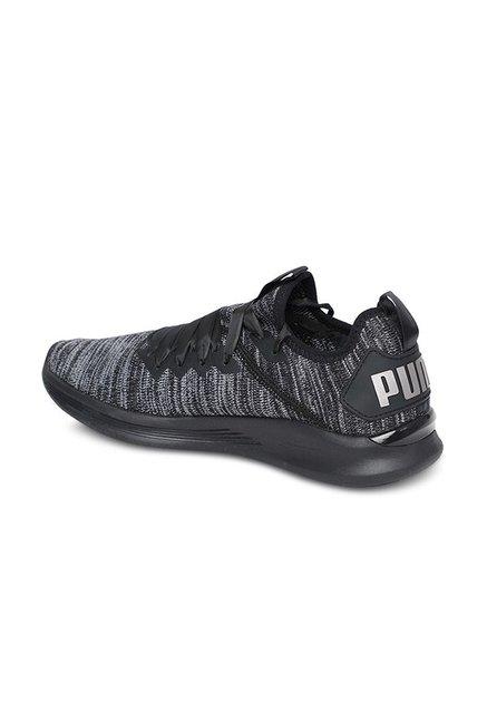 sports shoes 55d14 27f65 Buy Puma Ignite Flash evoKNIT Satin EP Black Training Shoes ...