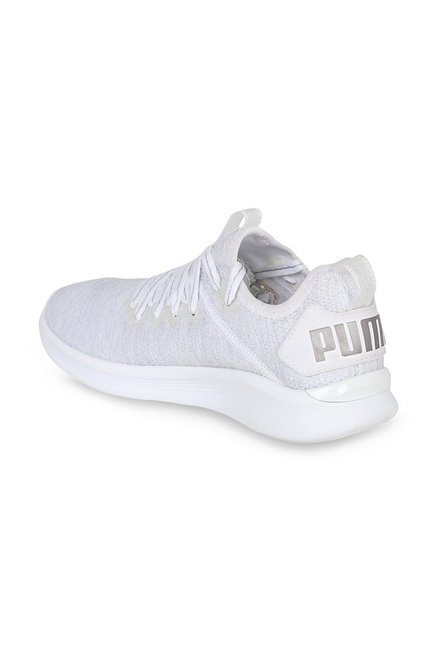 check out ddb1e c34cc Buy Puma Ignite Flash evoKNIT EP White Running Shoes for ...