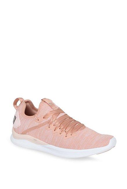 sports shoes 524c0 d4cb8 Buy Puma Ignite Flash evoKNIT Satin EP Peach Training Shoes ...