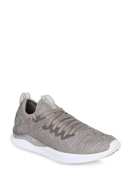 Buy Puma Ignite Flash evoKNIT EP Rock Ridge Running Shoes