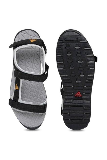 a20f34dd9a5b Buy Adidas Ravish Grey   Black Floater Sandals for Men at Best Price ...