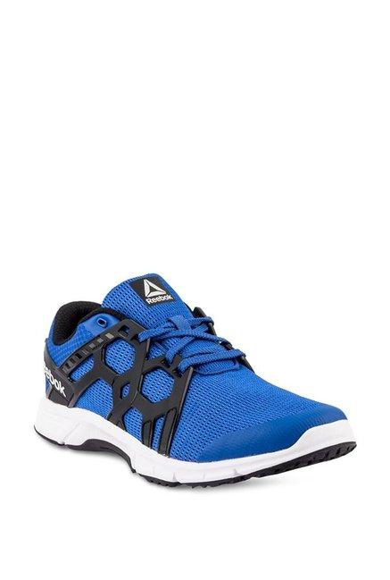 b1859813748a Buy Reebok Gusto Run LP Blue   Black Running Shoes for Men at Best Price    Tata CLiQ
