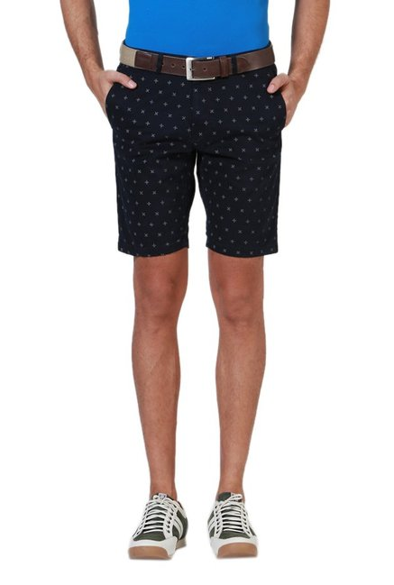 45c16694c4d Buy Allen Solly Navy Printed Wimbledon Shorts for Men Online   Tata CLiQ