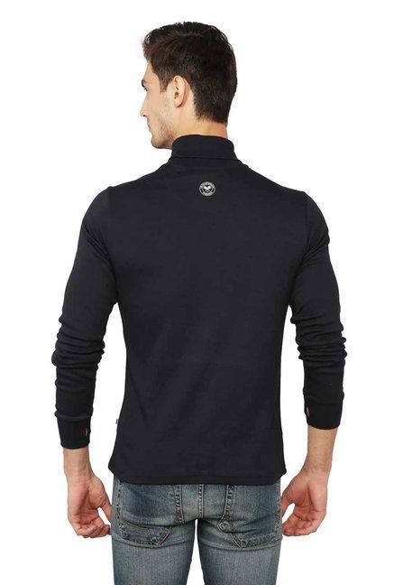 1bad0695066e Buy Allen Solly Wimbledon Black Turtle Neck T-Shirt for Men Online ...
