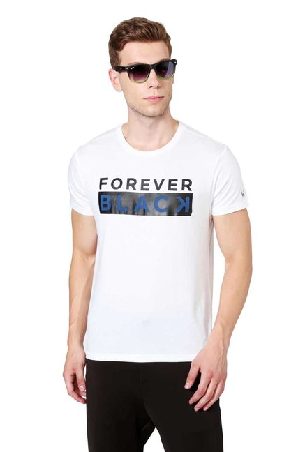 02744d9c4 Buy Allen Solly Wimbledon White Graphic Print T-Shirt for Men Online ...