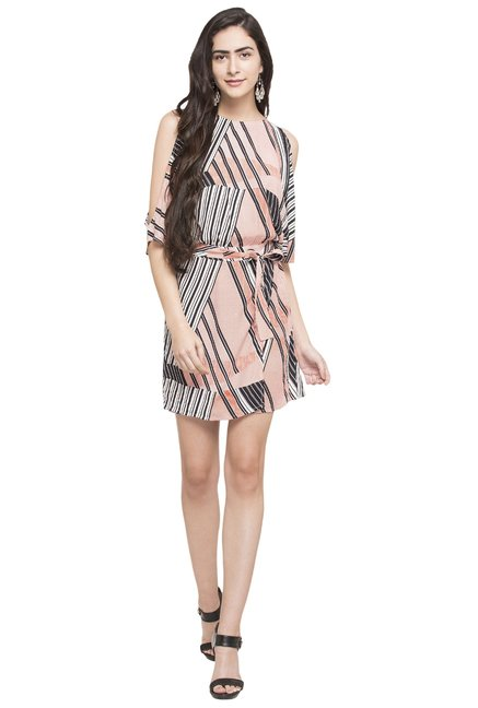 8127d9a9998 Buy Globus Red Striped Dress for Women Online   Tata CLiQ