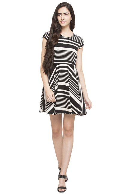 Globus Black Striped Dress