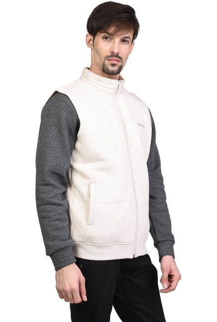 8d402c9f577319 Buy Octave Ecru Sleeveless Jacket for Men Online   Tata CLiQ