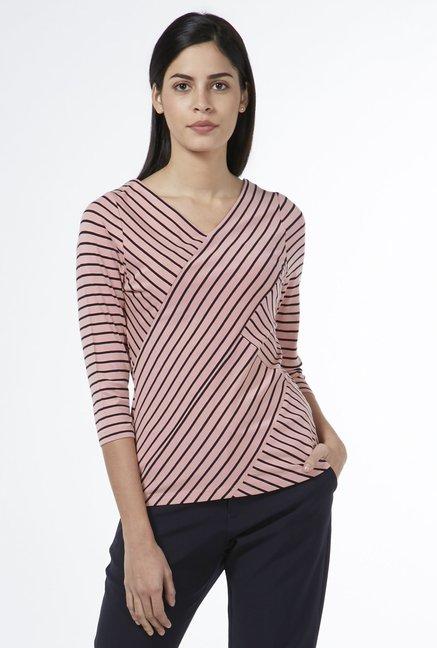 db09166acb8ed8 Buy Wardrobe by Westside Light Pink Debbie Top for Women Online   Tata CLiQ