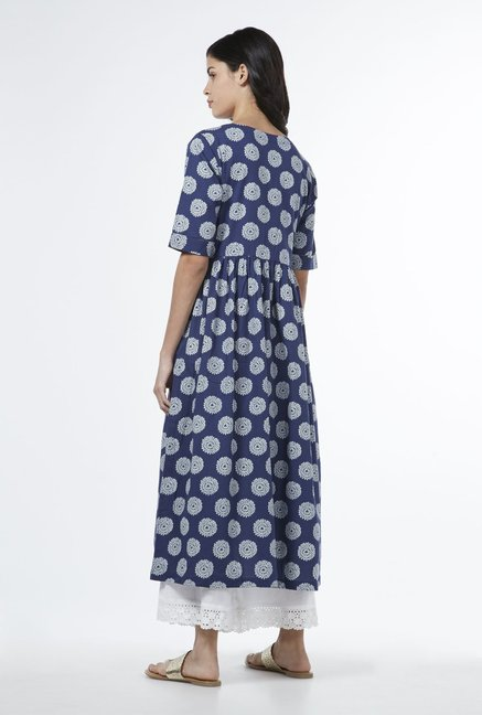 Utsa by Westside Indigo Fit-and-Flare Kurta