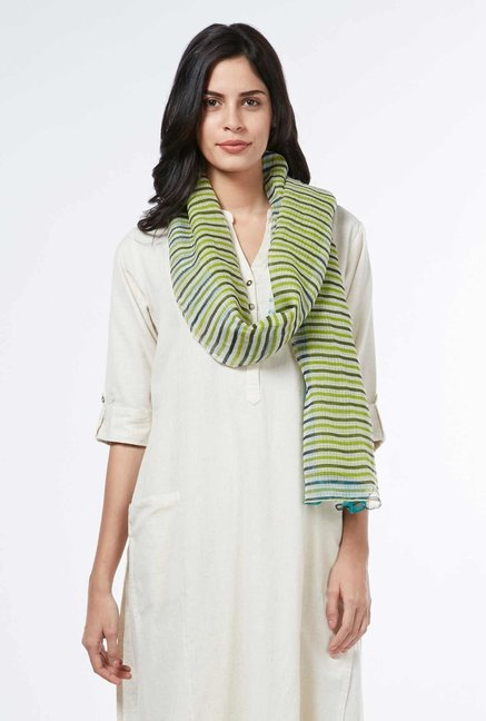 Utsa by Westside Lime Printed Stole