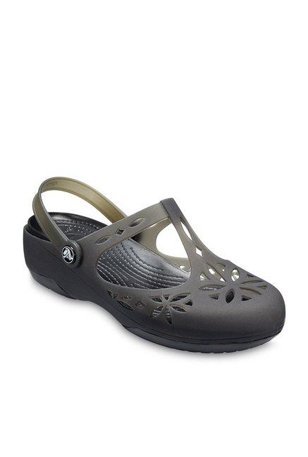 25ed79e859da Buy Crocs Isabella Black Back Strap Clogs for Women at Best Price   Tata  CLiQ