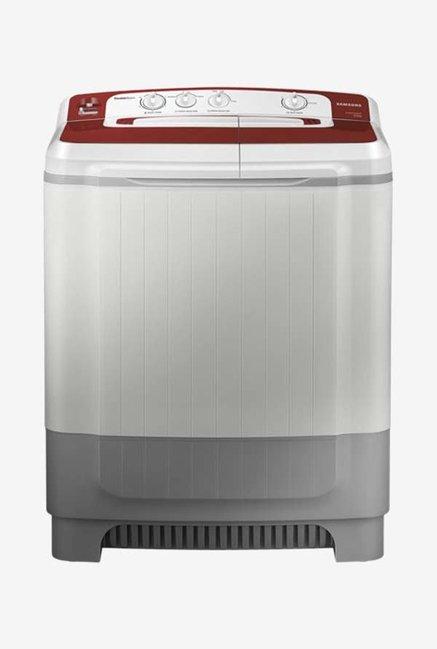 Samsung WT80M4000HR/TL 8 Kg Semi-Automatic Top Load Washing Machine (Light Grey/Maroon)