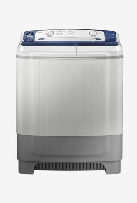 Samsung WT80M4200HB/TL 8 Kg Semi-Automatic Top Load Washing Machine (Light Grey/Blue)
