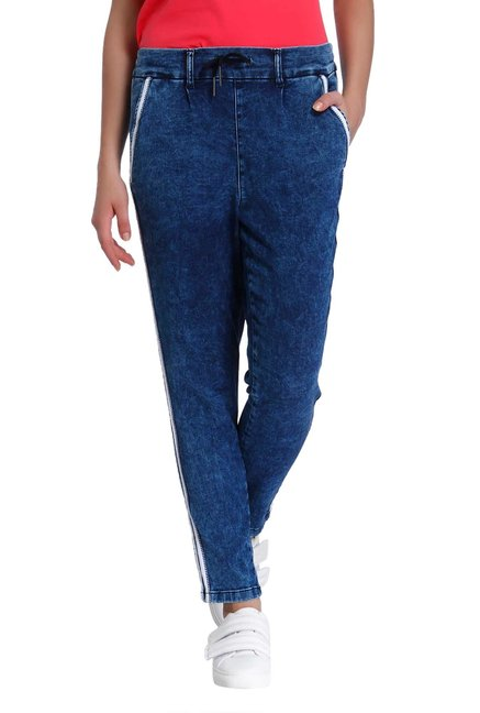 e545b8d6 Buy Only Blue Relaxed Fit Acid Wash Jeans for Women Online @ Tata CLiQ