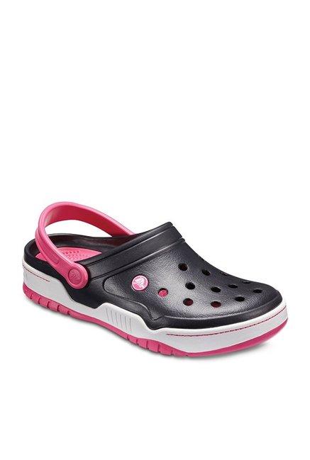 Buy Crocs Front Court Black \u0026 Pink Back
