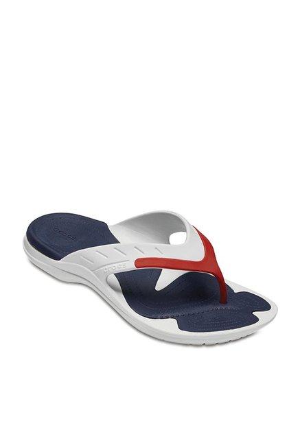 ba0e010fb321 Buy Crocs Modi White   Pepper Red Flip Flops for Men at Best Price ...