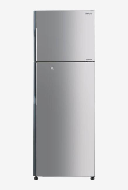 Hitachi 318L 3 Star Frost Free Double Door Refrigerator  Lined Metallic Silver, H350PND4K SLS