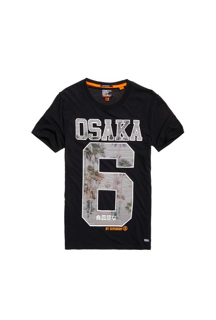 Superdry Black Printed T-Shirt