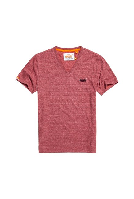 Superdry Red Textured T-Shirt