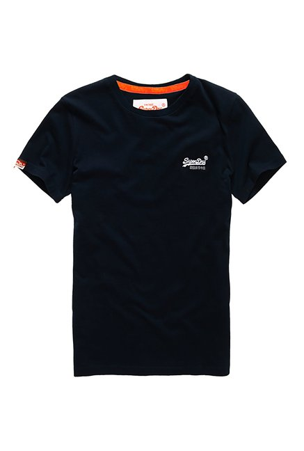 Superdry Navy Cotton T-Shirt