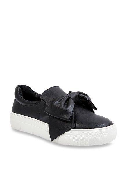 57aceec4d27 Buy Steve Madden Empire Black Sneakers for Women at Best Price   Tata CLiQ