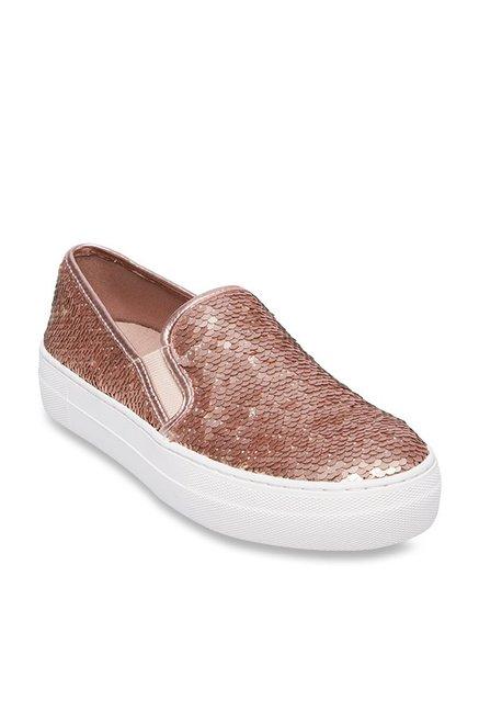 1170629aa428 Buy Steve Madden Gills-S Rose Gold Sneakers for Women at Best ...