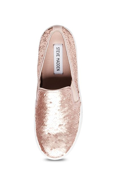 e0dbb9a18f64 Buy Steve Madden Gills-S Rose Gold Sneakers for Women at Best Price ...