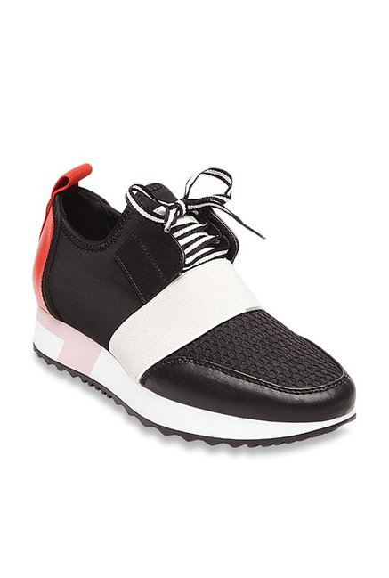 a5eed048864be Buy Steve Madden Antics Black Sneakers for Women at Best Price @ Tata CLiQ