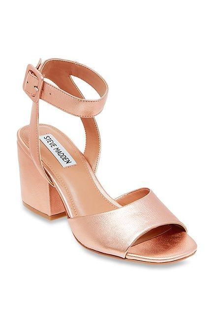 b61a6635110 Buy Steve Madden Debbie Rose Gold Ankle Strap Sandals for ...