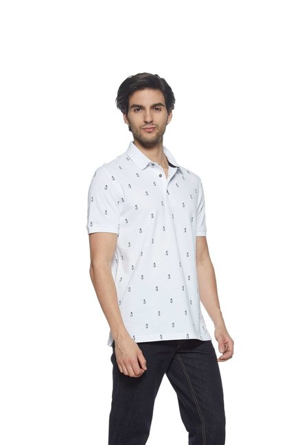 bdc90639 Buy Westport Casual by Westside White Slim Fit Polo T-Shirt for Men Online  @ Tata CLiQ