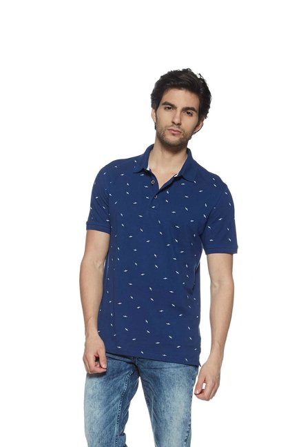 651e5d9b Buy Westport Casual by Westside Indigo Slim Fit Polo T-Shirt for Men Online  @ Tata CLiQ