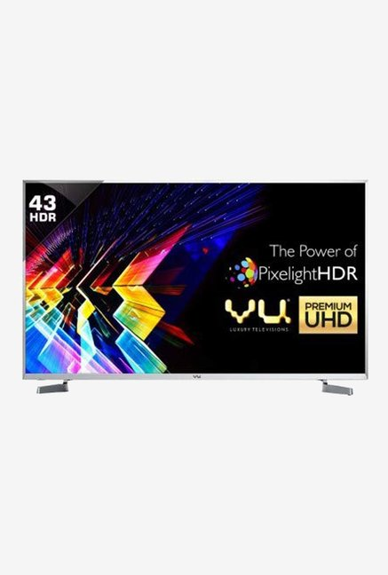 Vu 109 cm (43 Inches) Android Smart 4K Ultra HD LED TV 43SU128 (Black)